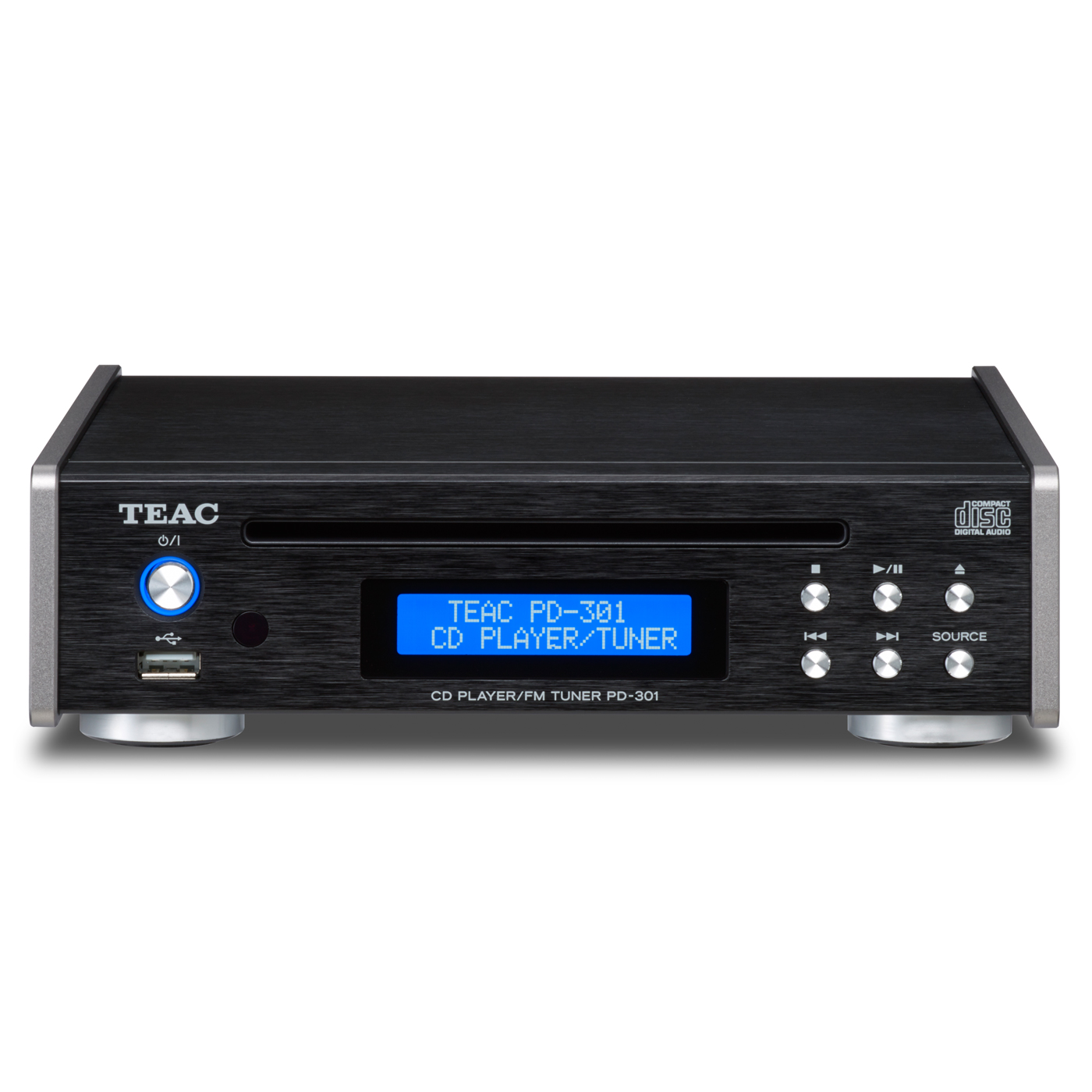 TEAC PD-301 High Quality CD Player With Built-In FM Tuner (Black) by TEAC