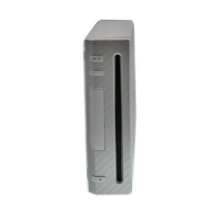 Xbox Cubierta de piel Skinomi fibra de carbono plata cuerpo completo consola de juegos para Nintendo Wii + Nintendo en Veo y Compro