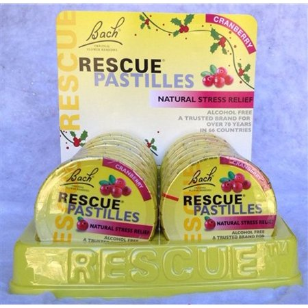 Bach Rescue Remedy Stress Relief Pastilles, Cranberry, 35 Ct
