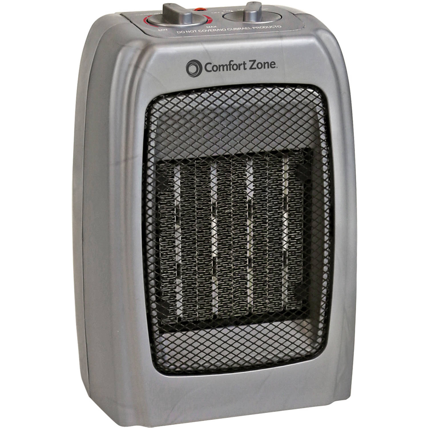 Comfort Zone Ceramic Heater, Silver