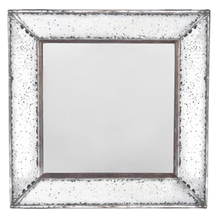 A&B Home Antique-Look Framess Square Wall Mirror Tray ()