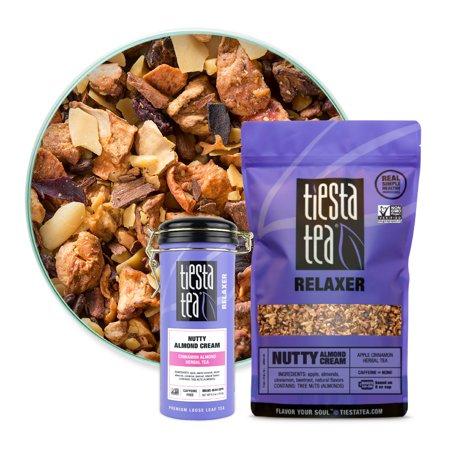 Tiesta Tea Relaxer Nutty Almond Cream Non-GMO Herbal Tea, Loose Leaf Tea, Cinnamon Almond Herbal Tea, 16oz Bulk Bag &...