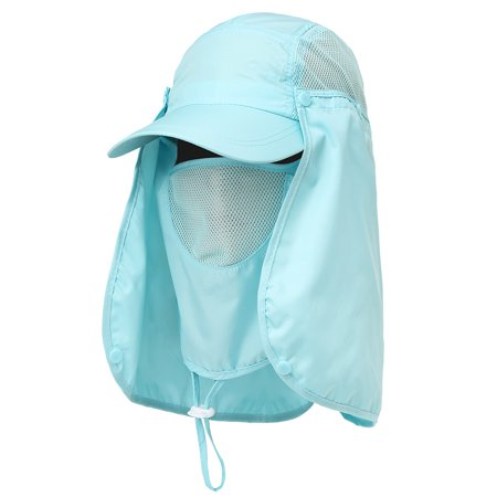abac76ae Outdoor Sport Hiking Visor Hat UV Protection Face Neck Cover Fishing Sun  Protection Cap - Walmart.com