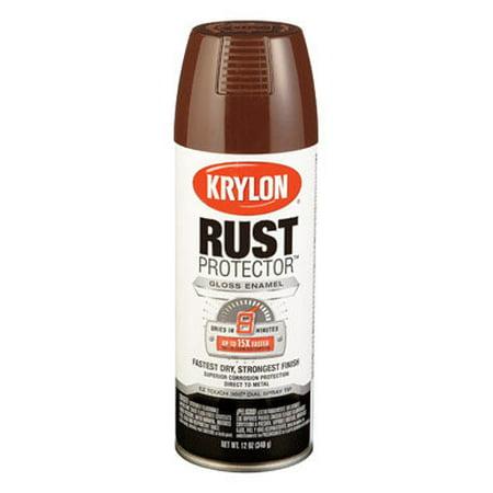 Krylon Leather Brown Gloss Rust Protector Spray Paint, 12-Ounce