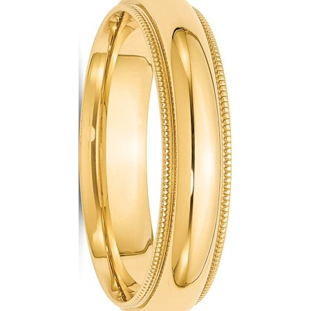 USA - 14k Yellow Gold 5mm Milgrain Comfort Fit Band Size 12 - image 3 of 3