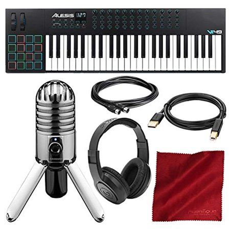 alesis vi49 49 key usb midi keyboard drum pad controller with samson meteor mic usb microphone. Black Bedroom Furniture Sets. Home Design Ideas