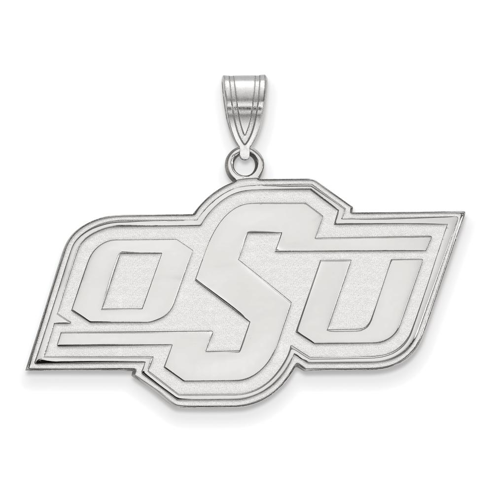 Oklahoma State Large (3/4 Inch) Pendant (Sterling Silver)