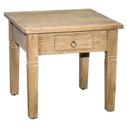 Side Table in Rustic Mango Gray Wash Finish