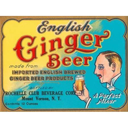 English Ginger Beer Poster Print by Vintage Booze Labels  (9 x 12)