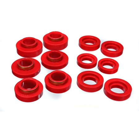 Energy Suspension GM Red Body to Frame Mount and Radiator Support Bushing Set Body Mount Bushing Set