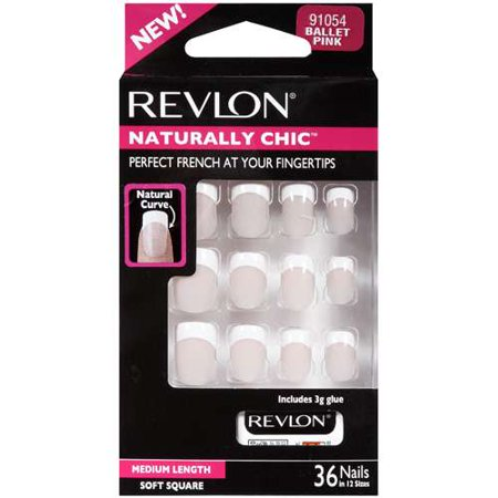 Revlon Artificial Nails Naturally Chic 36 Pk