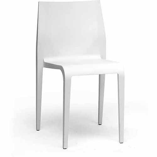 Molded Plastic Dining Chairs wholesale interiors blanche molded plastic modern dining chair