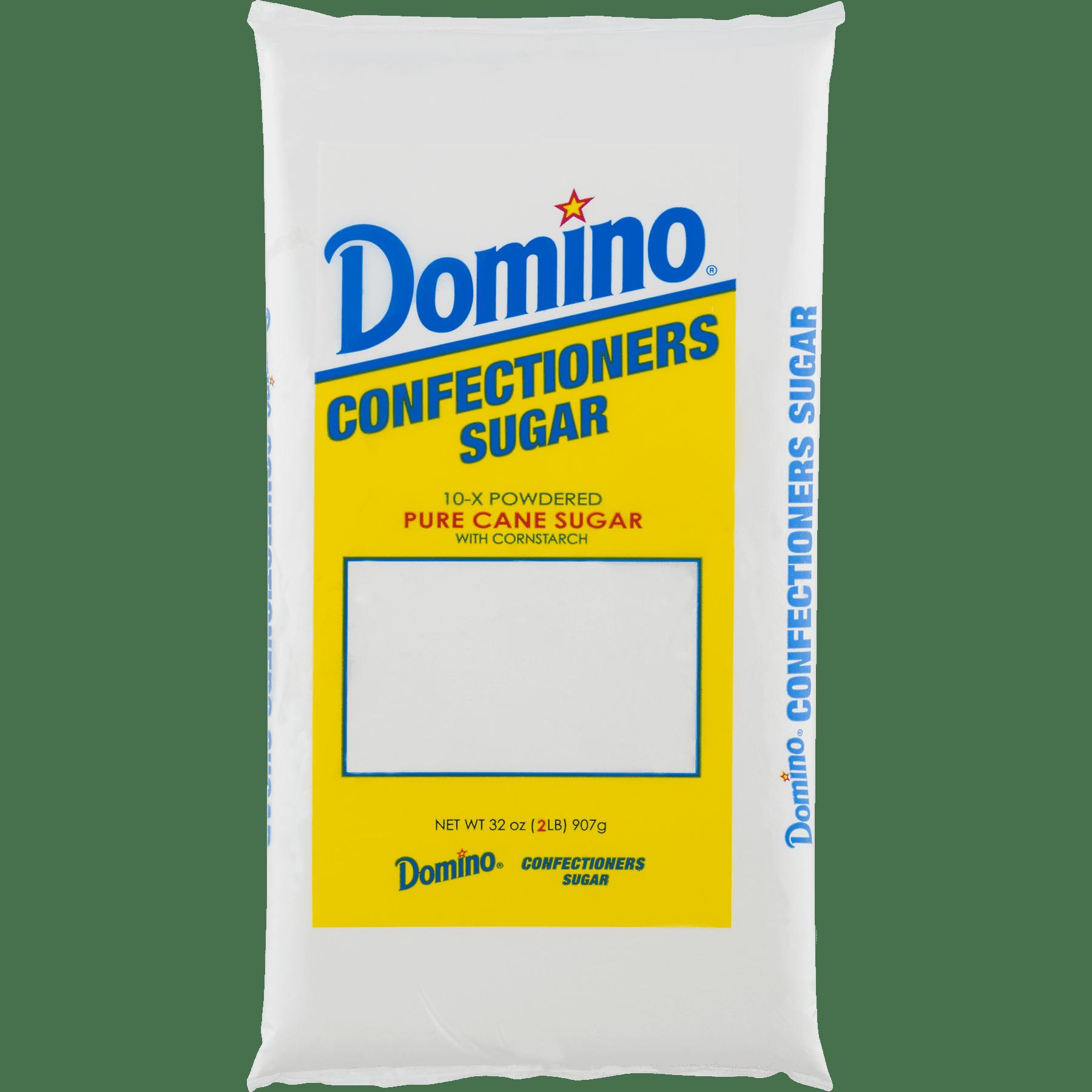Domino Pure Cane Confectioners 10-X Powdered Sugar, 2 lb - Walmart.com