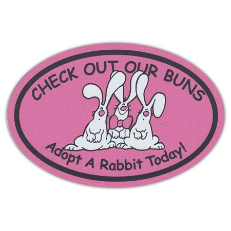 Oval Shaped Pet Magnets: Check Out Our Buns (Rabbits) | Cars, Trucks