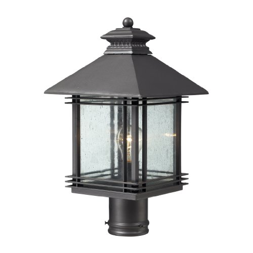 Elk Lighting 42304/1 1 Light Outdoor Post Light from the Blackwell Collection, Graphite