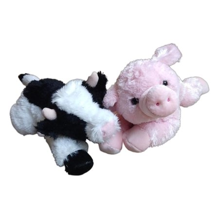 MAY BELL COW & PIGGOLO PIG Flopsie 12