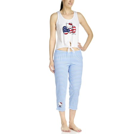 Hello Kitty American Kitty Tank/Capri Legging Pajama - Hello Kitty Clothes For Adults