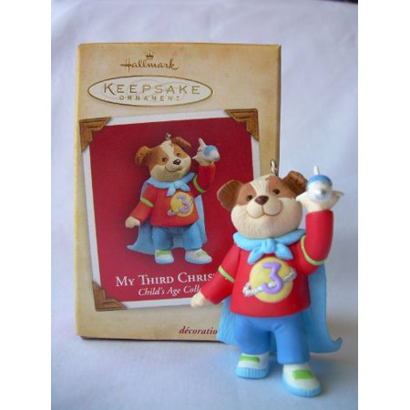Childs Age: My Third Christmas (Boy) 2004 Hallmark Ornament (Hallmark Childs Fifth Christmas Ornament)