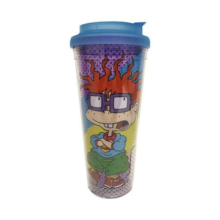 Chuckie Finster 24oz Plastic Travel Mug Coffee Rugrats Chucky Nickelodeon Nick