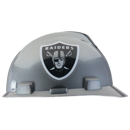 MSA Officially-Licensed NFL V-Gard Helmets, 1-Touch, Oakland Raiders