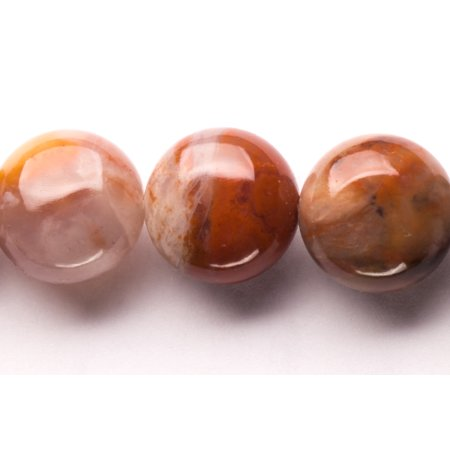 - Flat Red Marble Round Beads Semi Precious Gemstones Size: 12x12mm Crystal Energy Stone Healing Power for Jewelry Making