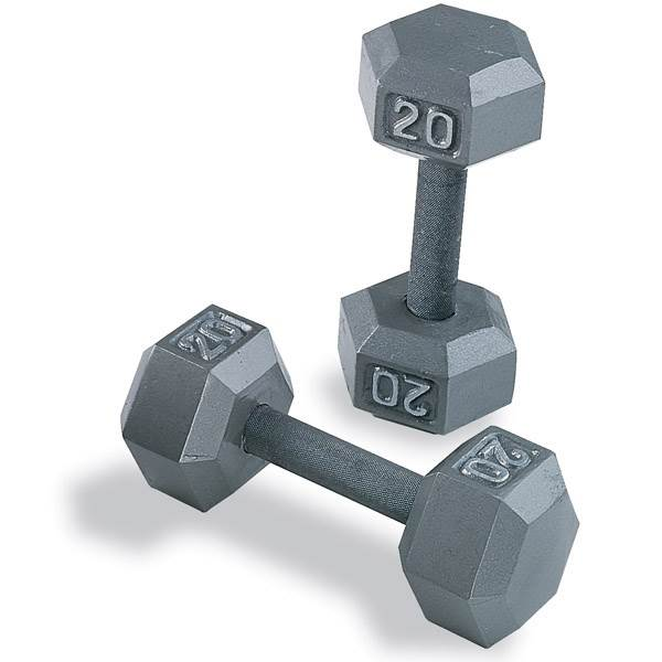 Gray Hex Dumbbell Set (5-50 Lb. (10 pairs in 5 lb. increments))
