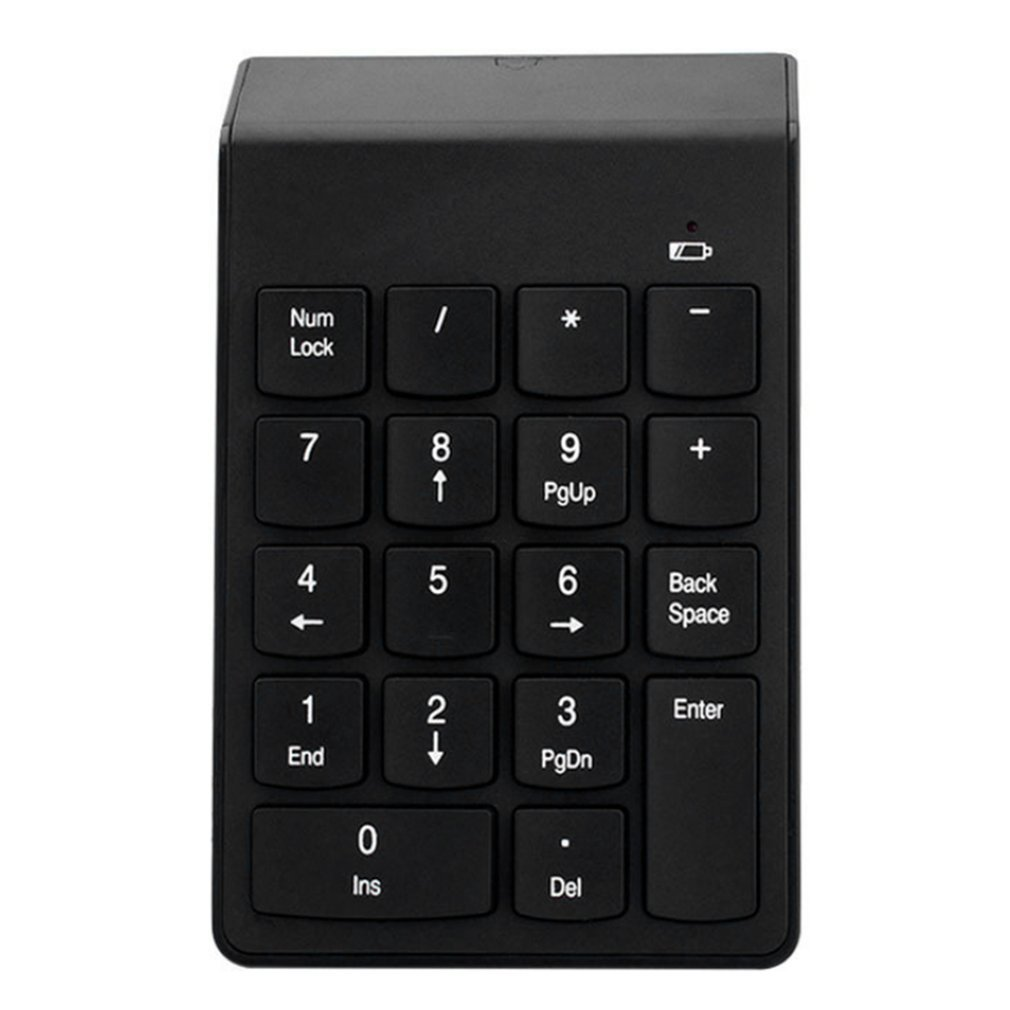 T-Mack New Game gadgets Mini Portable Numeric Keypad 2.4G Wireless Keyboard 18 Keys Number Pad Financial Accounting Keypad with USB Receiver
