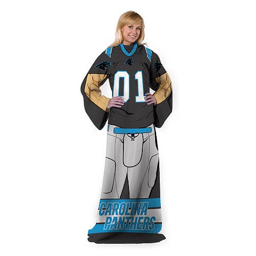 IFS - Carolina Panthers NFL Uniform Comfy Throw Blanket w/ Sleeves