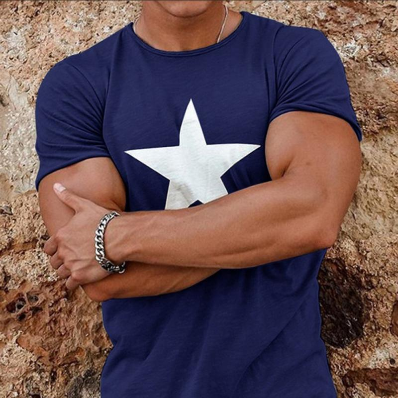 Men/'s Gym Muscle Bodybuilding Cotton Sport Fit Fitness Casual T-shirt Tee