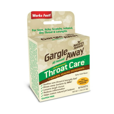Gargle Away by Nature's Jeannie Spicy Herb Flavor Advanced Throat Care, 6 pack, 1.12