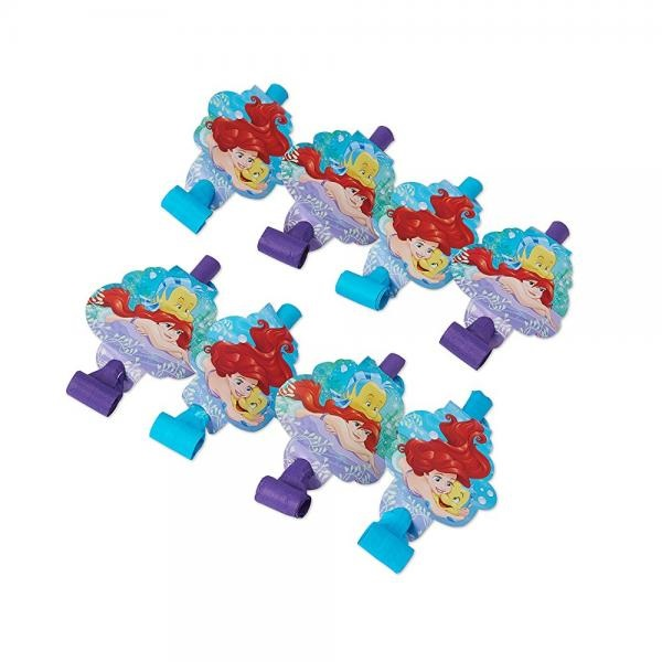 American Greetings The Little Mermaid Party Blowers 8 Pack