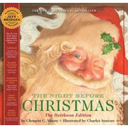 The Night Before Christmas Heirloom Edition : The Classic Edition Hardcover with Audio CD Narrated by Jeff Bridges