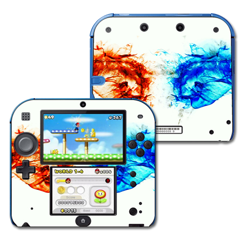 Mightyskins Protective Vinyl Skin Decal Cover for Nintendo 2DS wrap sticker skins Hot And Cold