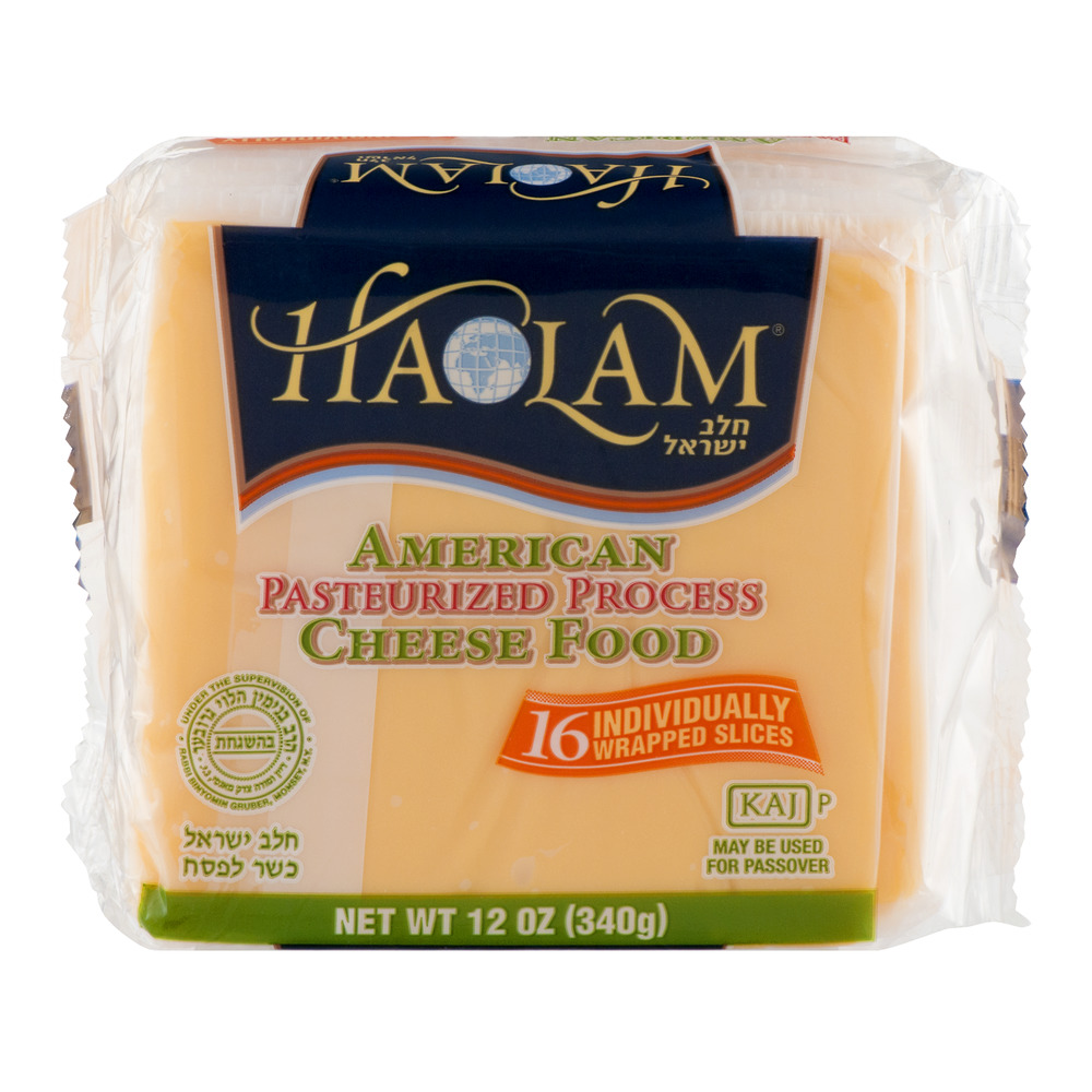 Haolam Sliced Pasteurized American Cheese, 12 Oz., 16 Count