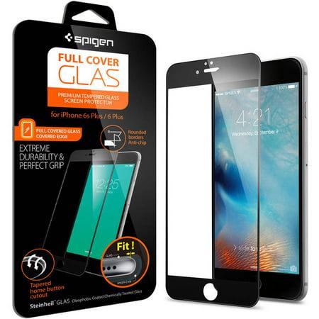 reputable site 9d9f5 06fa3 Spigen Glass FC Screen Protector for Apple iPhone 6S Plus - Walmart.com