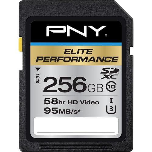 PNY 256GB Elite Performance SDXC 95MB s Memory Card by PNY