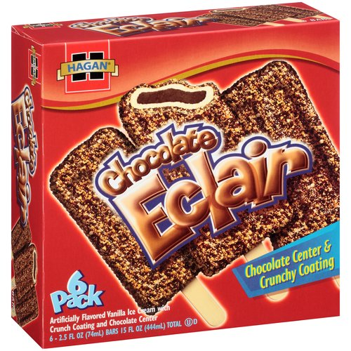 Hagan Chocolate Eclair Ice Cream Bars, 2.5 fl oz, 6 count