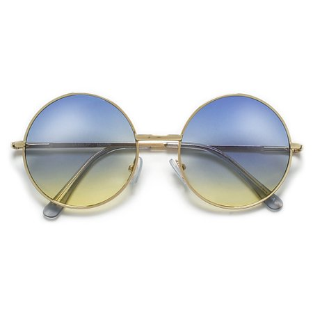 c13d92d3fe 013189608912. Lennon Inspired Colorful Ombre Lens Retro Round 50mm Metal  Sunglasses