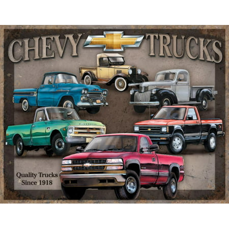 Chevy Truck Tribute Tin Sign - 16x12.5 Tradition Tin Sign
