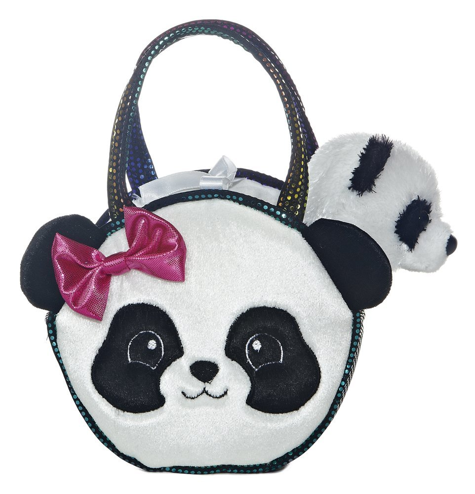 "Pretty Panda Fancy Pal Pet Carrier 8"" Plush by Aurora - 32605 - image 1 of 1"