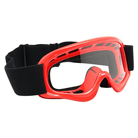 TMS ATV/Motocross/Off-Road Goggles, Youth, Red (AS10-R)