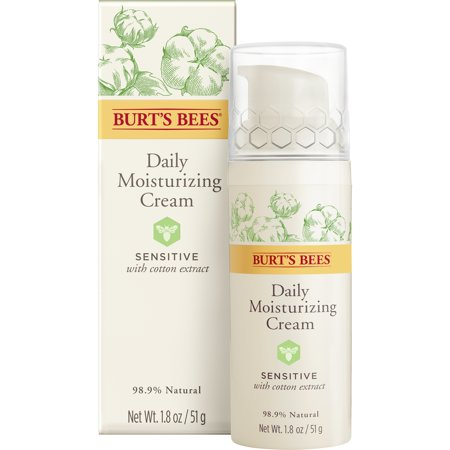 Burt's Bees Daily Face Moisturizer Cream for Sensitive Skin, 1.8 (Face Moisturizer Sensitive Skin)