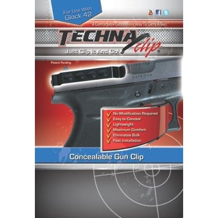 Techna Clip G42BRL Conceal Carry Gun Belt Clip Compatible with Glock 42 Carbon Fiber (Best Glock Trigger For Concealed Carry)