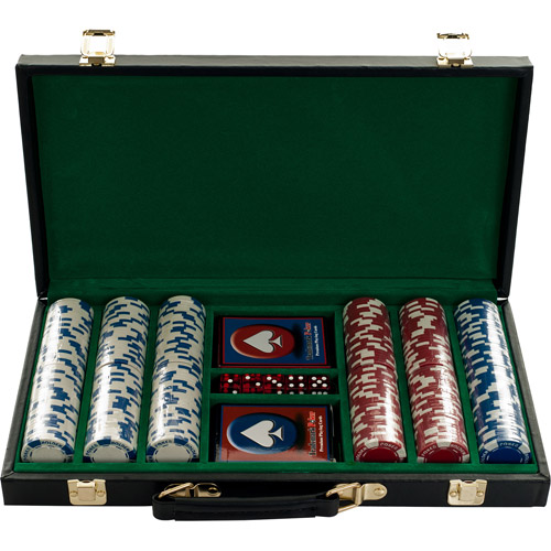 Trademark Poker 300 11.5g Holdem Poker Chip Set With Black Vinyl Case