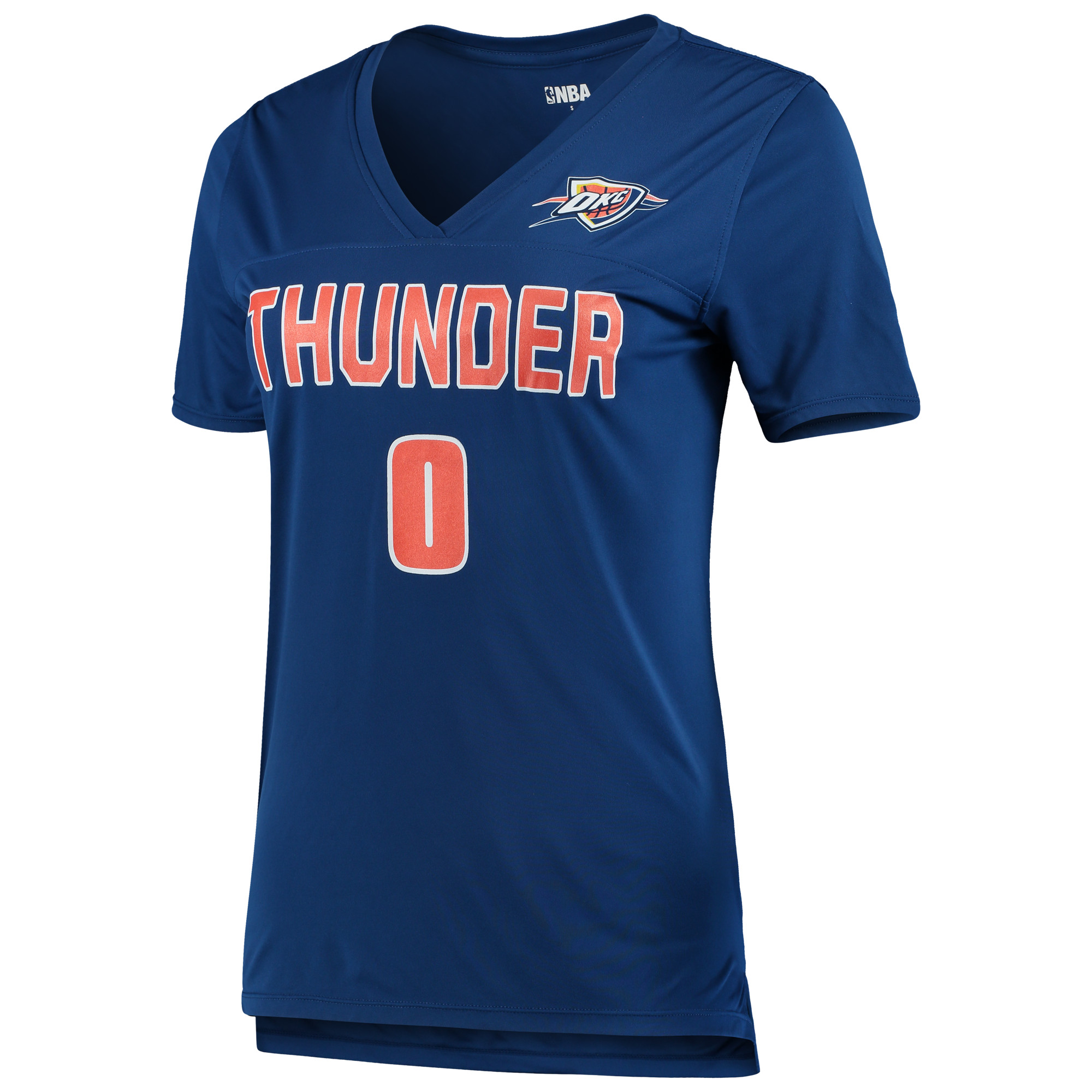 Women's 5th & Ocean by New Era Russell Westbrook RoyalOklahoma City Thunder Name and Number T-Shirt