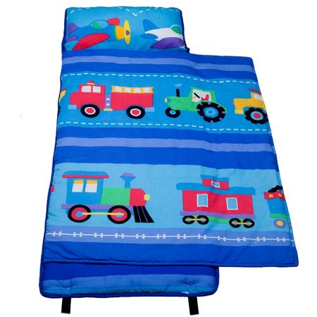 Olive Kids Trains, Planes, Trucks 100 Percent Cotton Nap Mat (Nap Mat Planes)