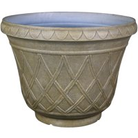 """Better Homes & Gardens 19.7"""" Olympia Stone Planter, Taupe"""
