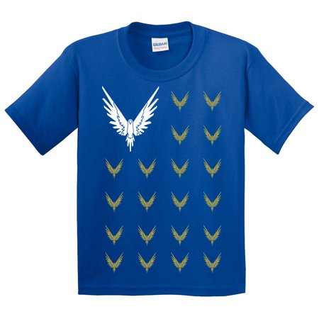 New Way 830 - Youth T-Shirt Maverick Bird Savage Logang Flag XL Royal (Royal Blue Youth Players T-shirt)