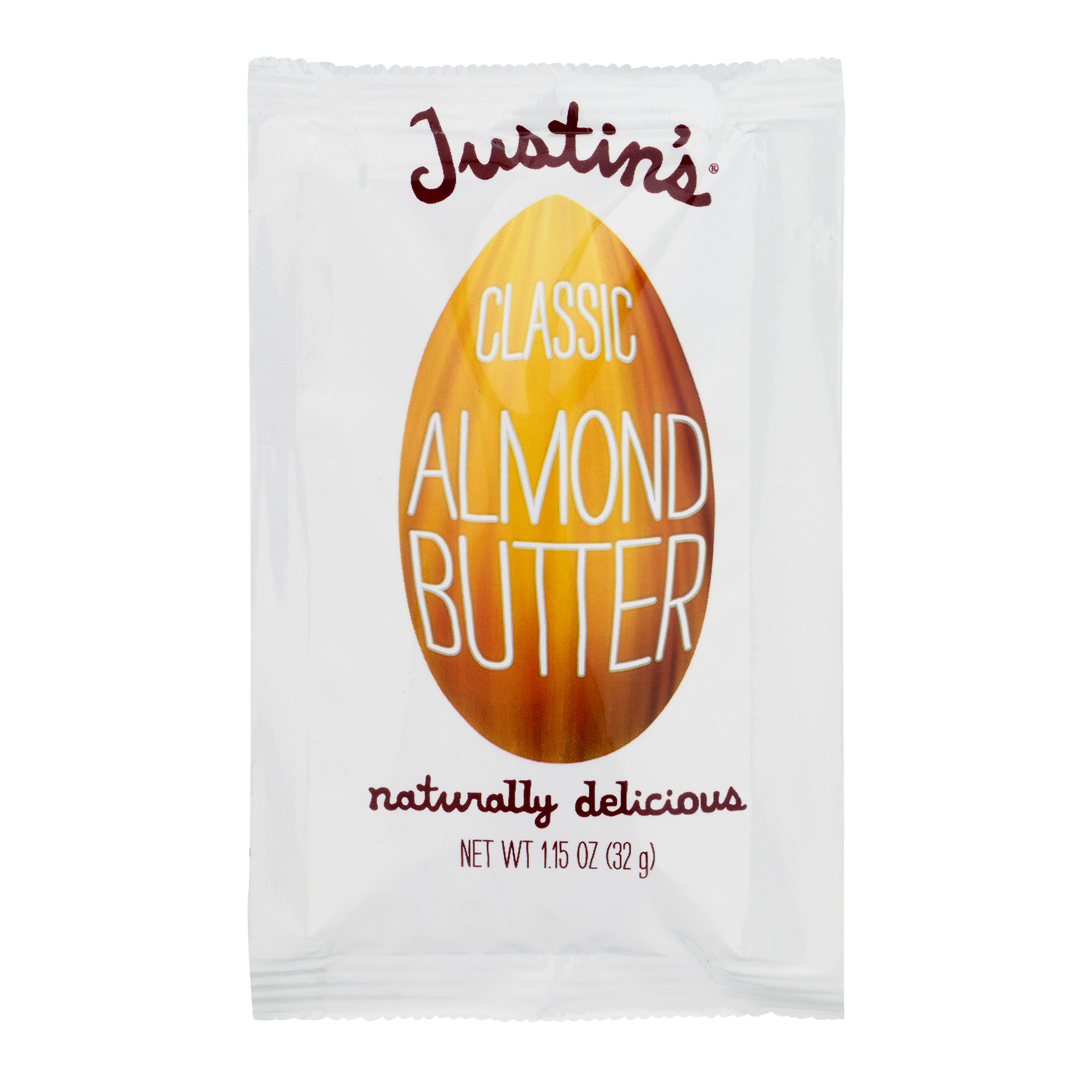 Justins Almond Butter Squeeze Packet, Classic, 1.15 Ounce (Pack of 10)