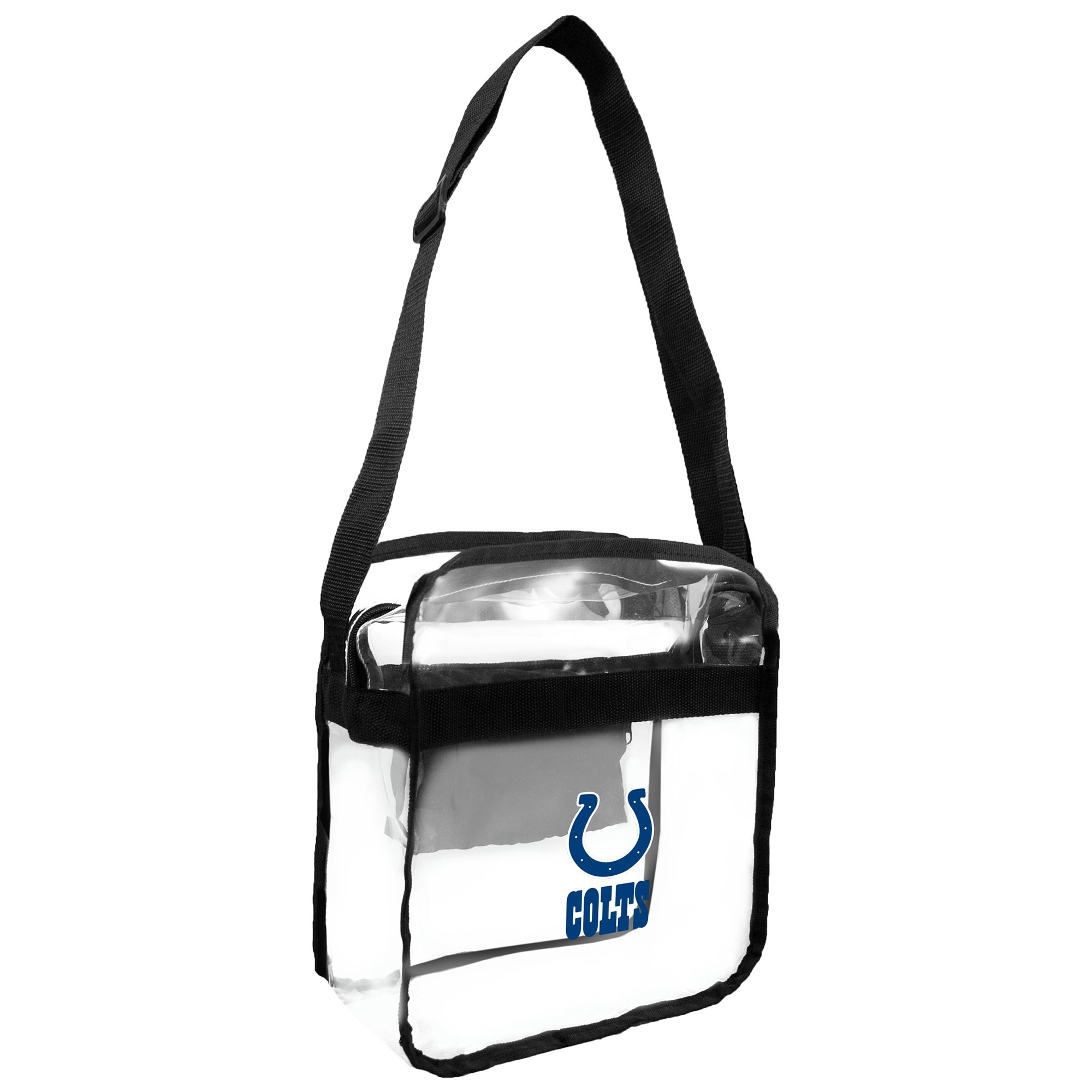 Little Earth - NFL Clear Carryall Cross Body Bag, Indianapolis Colts